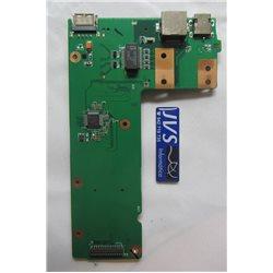 60-NXMDC1000-E01 Placa DC Power Jack, Conector de energia, USB e leitor de cartão. Asus X52D [002-VAR012]