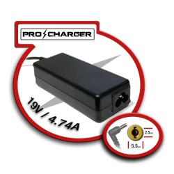 Carg. 19V/4.74 A 5.5 mm x 2.5 mm 90w Pro Charger